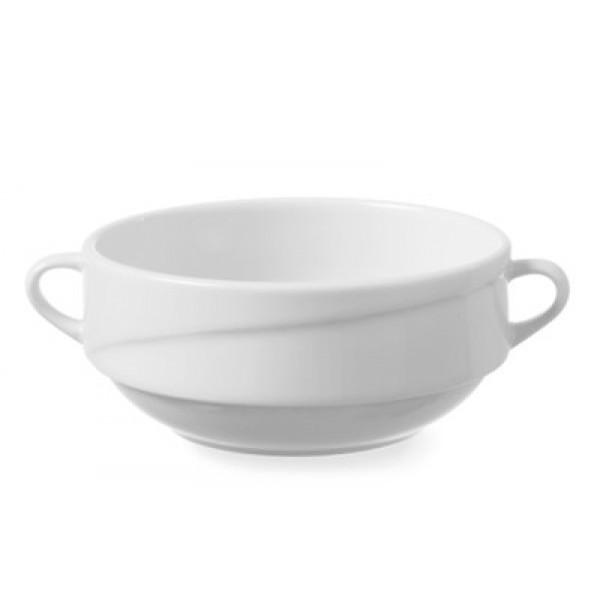 Jušna skodelica volumna 350 ml iz belega porcelana Exclusiv brez krožnika