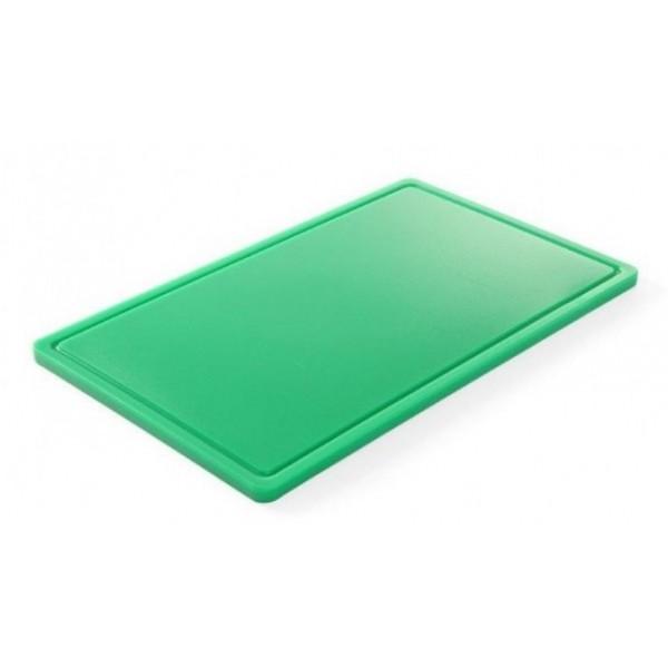 Gastronomska deska za rezanje 530x325x(V)15 - Zelena