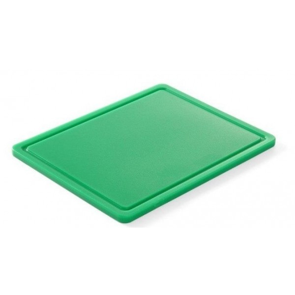 Gastronomska deska za rezanje zelenjave 265x325x(V)12 - Zelena