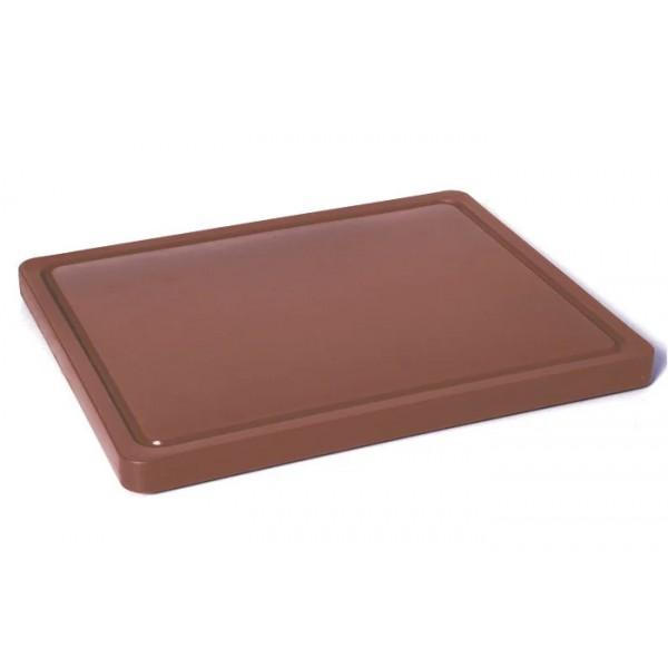 Gastronomska deska za rezanje kuhanega mesa 265x325x(V)12 - Rjava