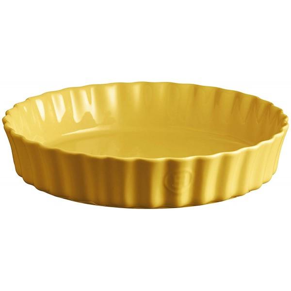 Emile Henry globoka keramična posoda za peko pit premera 28 cm Provence rumena