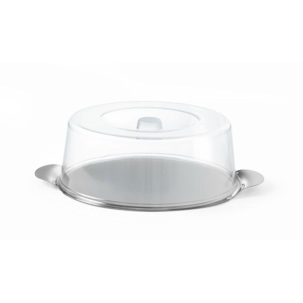 Okrogli pladenj za torte s prozornim pokrovom ø300x(v)110 mm