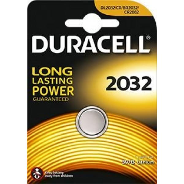 Gumbna baterija CR 2032 litijeva Duracell CR2032 220 mAh 3 V, 1 kos
