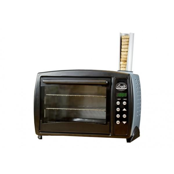 Namizni konvekcijski digitalni prekajevalnik z dvemi policami