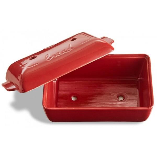 Emile Henry keramična specialna posoda za peko kruha 24 x 14,5 x 8 cm Rdeča