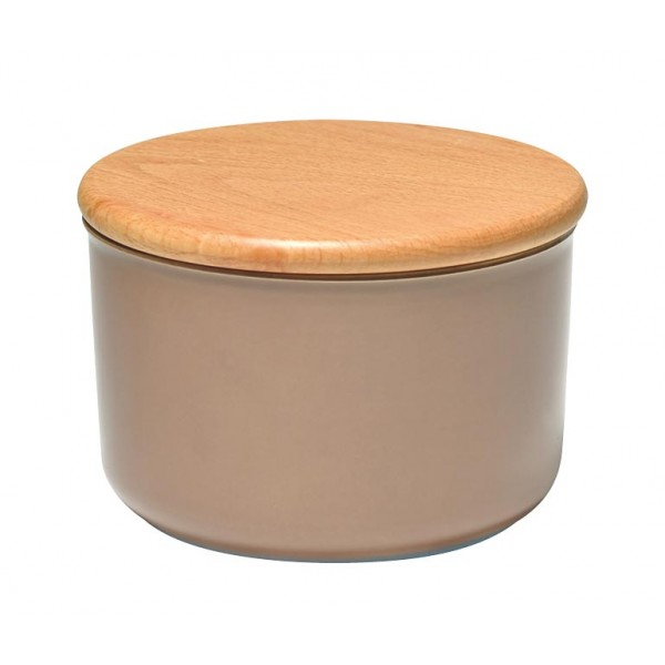 Emile Henry keramična posoda za shranjevanje s pokrovom 0,3 l barve hrasta