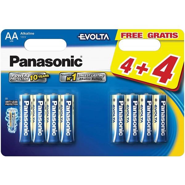 Panasonic Vrhunske Alkalne EVOLTA baterije LR6/AA 8 pak