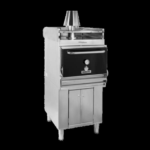 Mibrasa® Pečica na oglje z spodnjo omaro in grelno rešetko HMB AB SB 75
