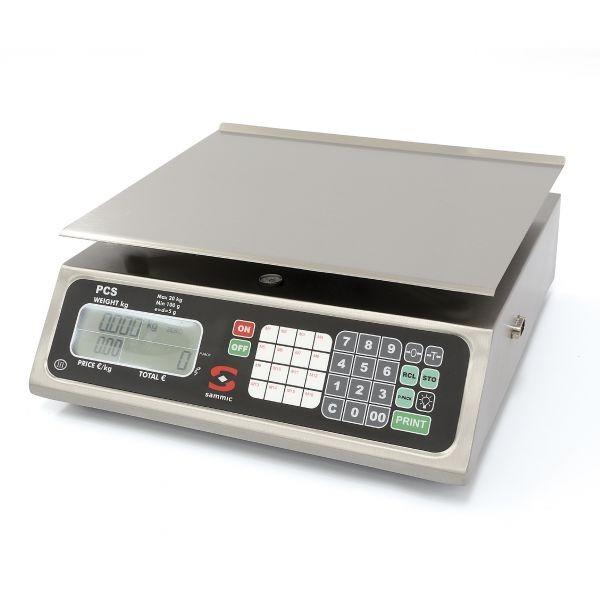 Sammic komercialna tehtnica z izračunom vrednosti ter kapaciteto 20 kg
