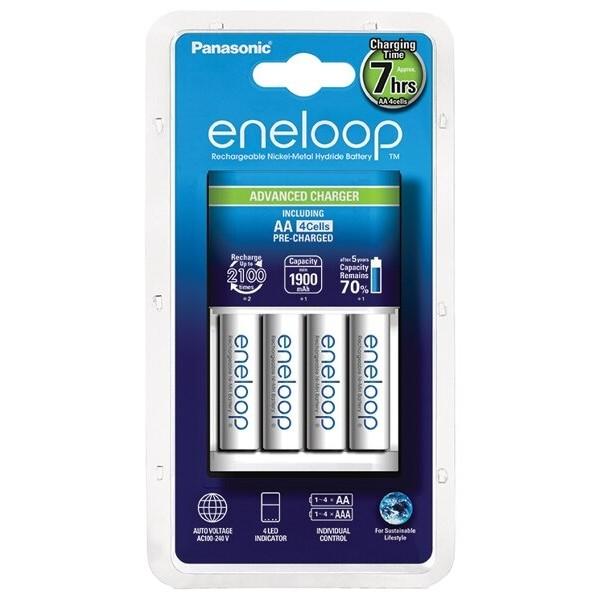 Panasonic Eneloop polnilnik BQ-CC17 + 4xR6/AA Eneloop 2000mAh BK-3MCCE