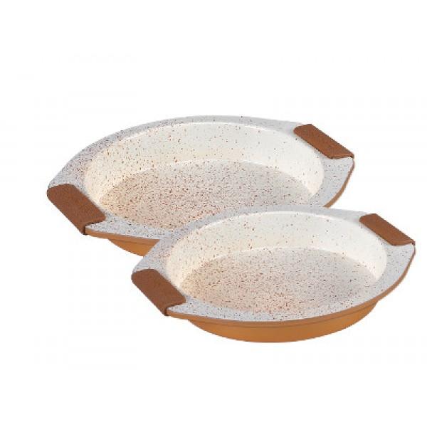 Set dveh okroglih pekačev s keramično prevleko