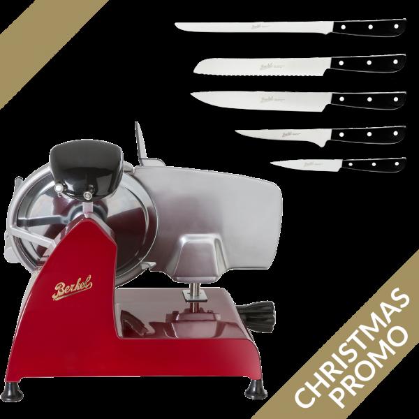Berkel rezalnik Red Line 250 + Synthesis Premium Set 5 nožev