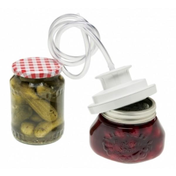 Nastavek za vakumiranje steklenih kozarcev za shranjevanje